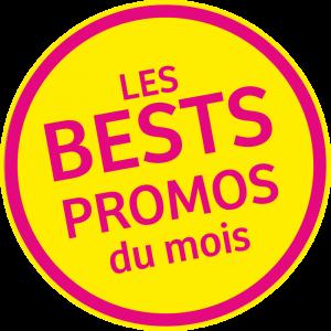 Adhésif REMISE - Les BESTS PROMOS du mois - magenta fond jaune