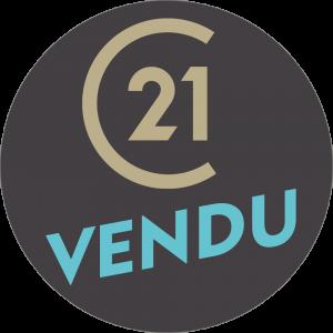 Adhésif P.L.V & Display -  C21 VENDU beige/cyan fond gris foncé