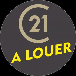Adhésif P.L.V & Display -  C21 A LOUER beige/jaune fond gris foncé