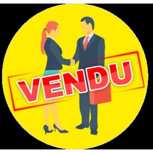 Adhésif P.L.V & Display -  VENDU rouge fond jaune
