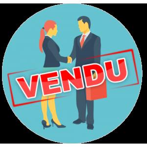 Adhésif P.L.V & Display -  VENDU rouge fond turquoise
