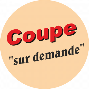 Adhésif Conseil Clientèle - Coupe sur demande - fond beige