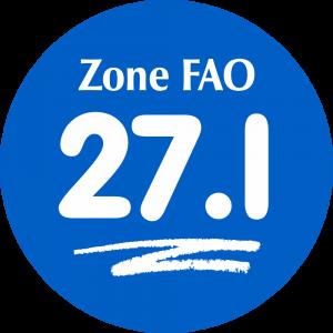 Adhésif Zone de pêche FAO - 27.I / blanc sur bleu