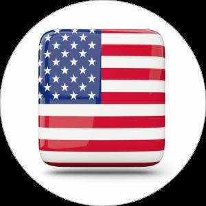 Adhésif drapeau pays - U.S.A - bleu/rouge sur blanc
