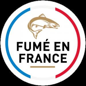 Adhésif Label Fumé en FRANCE  bleu-blanc-rouge sur blanc