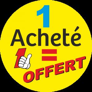 Adhésif 1 Acheté 1 OFFERT fond Jaune