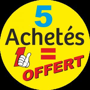 Adhésif 5 Achetés 1 OFFERT fond Jaune