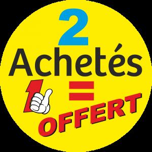 Adhésif 2 Achetés 1 OFFERT fond Jaune