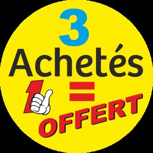 Adhésif 3 Achetés 1 OFFERT fond Jaune