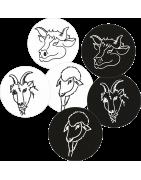 Têtes Animaux Noir & Blanc (mode Dessin)