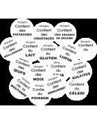 Adhésifs promotionnels - Adhésifs Alergènes  - sticker alergènes