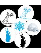 Surgèlation - Adhésifs promotionnels - Adhésifs surgèlation - adhésifs surgélation Patisserie - sticker surgélation - sticker patineur surgélation - sticker igloo surgélation - sticker pingouin surgélation - sticker flocon neige surgélation